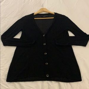 Semi sheer black cardigan rag and bone
